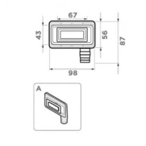 Сменный перелив для моек Artceramic OV-1-ARTC LG